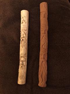 2 Santa study sticks